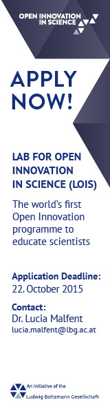 Lab for open innovation in science (LOIS) -  Vienna - Starting 15-16 April 2016 - Application deadline: 22. October 2015