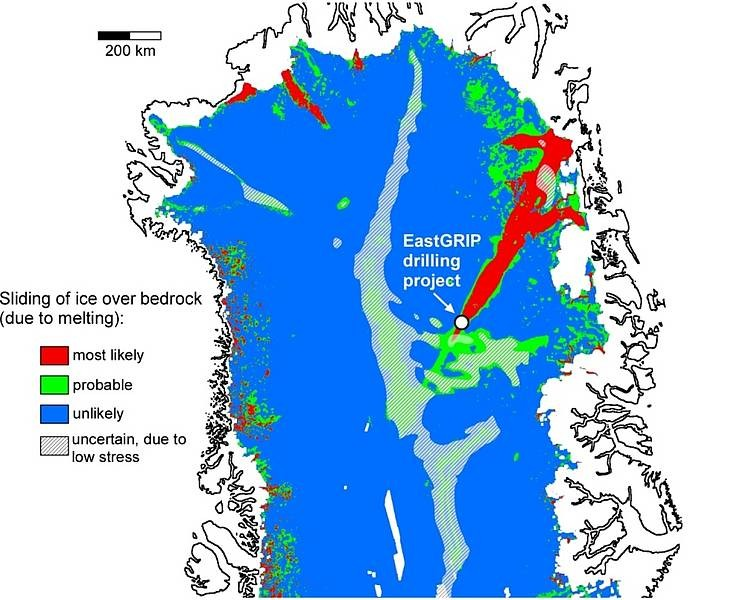 Map of the area investigated in northern Greenland. Until now it was assumed tha