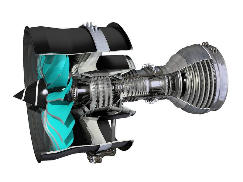 A gearbox can efficiently transfer the output of the quickly rotating turbine to