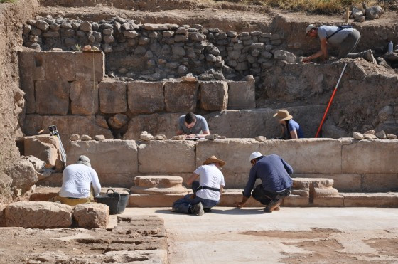 Daily work during the excavations in the basilica of Doliche.  © Forschungsstell