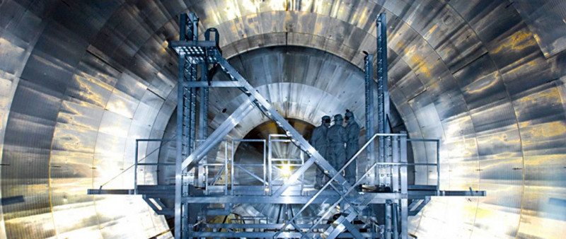 A view inside the KATRIN experiment.    Image: KATRIN / KIT