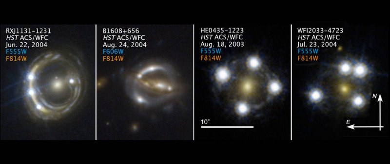 Hubble Space Telescope images of faraway quasars lensed by foreground galaxies t