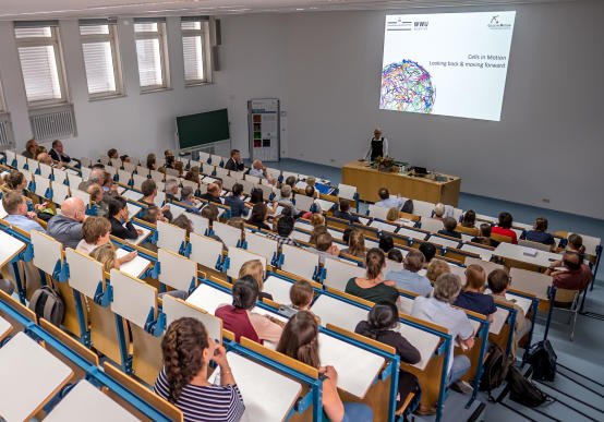 Around 190 guests came to the Highlights Symposium held by the Cells in Motion C