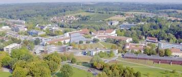 Aerial view of the Weihenstephan Campus, where the new building will be errected