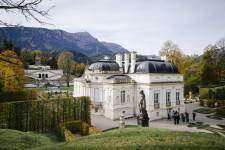 The Royal Palace of Linderhof was built between 1870 and 1886 by Georg Dollmann,