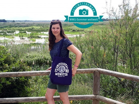 Kathrin Kottke in the nature park S'Albufera on the Spanish Balearic islan