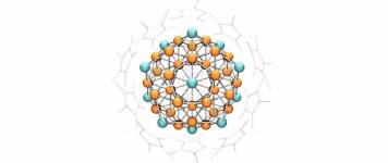 'Superatom' comprising 43 copper and 12 aluminum atoms surrounded by cyclopentat