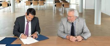 The endowment agreement was signed today by Thomas F. Hofmann, the President of