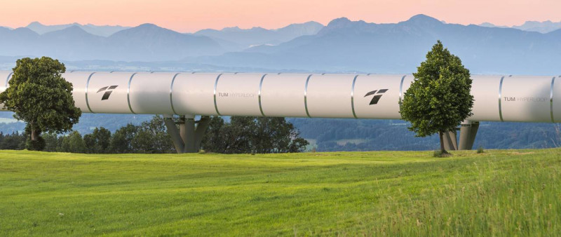 A Hyperloop tube in Bavaria: a team from the Technical University of Munich is r