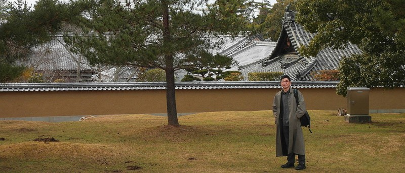 Ataru Sotomura in the Japanese city of Nara. The JMU scientist leads a research